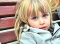 Garçon blond mignon Photo stock