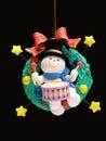 Garçon de batteur de vacances de Noël Photo stock