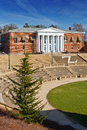 Garrett hall with amphitheatre in foreground at uva Royalty Free Stock Photography