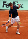 Garros 2009 d'Andy murray Roland Images libres de droits