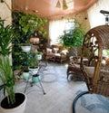 Gartenraum für Rest Stockfotos