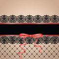 Garter black stockng with lace Royalty Free Stock Photo