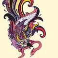 Garuda и  юстратор и  юстрации руки чертежа уг я щетки нарисованный как взг Стоковое фото RF