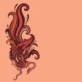 Garuda и  юстратор и  юстрации руки чертежа уг я щетки нарисованный как взг Стоковые Изображения