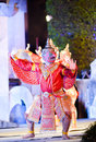 Garuda dance in light and sound Royalty Free Stock Image