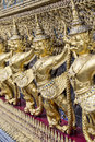The garuda at emerald buddha temple bangkok thailand Royalty Free Stock Photo