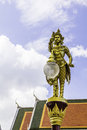 Garuda gold in temple thailand Stock Photo