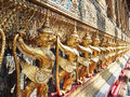 Garuda golden in wat prakaew Stock Photography