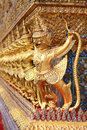 Garuda row of in pra keaw temple Royalty Free Stock Images