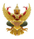 Garuda statue isolated on white with clipping path Royalty Free Stock Photos