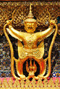 Garuda in Wat Phra Kaew Grand Palace of Thailand t Stock Photography