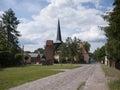 Garz dorfmitte village with church in in the municipality of temnitztal in ostprignitz ruppin brandenburg germany Royalty Free Stock Photos