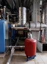 Gas boiler house Royalty Free Stock Photo