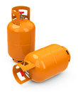 The gas bottles d generated picture of two orange Stock Images
