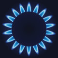 Gas burner blue flames ring of kitchen eps Royalty Free Stock Photos