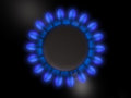 Gas burner flame of a Stock Photo