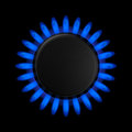 Gas burner flame of a Royalty Free Stock Photography