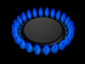 Gas burner flame of a Royalty Free Stock Photos