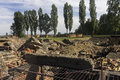 Gas chamber ruins in the auschwitz ii birkenau of a former nazi extermination camp and now a museum poland Stock Photo