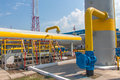 Gas compressor station in ukraine in bright sunny summer day Stock Images