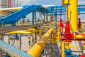Gas compressor station in ukraine in bright sunny summer day Royalty Free Stock Image