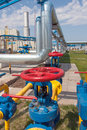 Gas compressor station in ukraine in bright sunny summer day Royalty Free Stock Photography