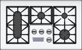 Gas cooker with double hob vector illustration Royalty Free Stock Images