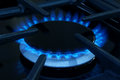 Gas cooker ring on a domestic or stove Royalty Free Stock Photos