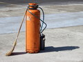 Gas cylinder with burner Royalty Free Stock Image