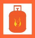 Gas cylinder design orange