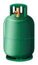 A gas cylinder illustration of on white background Stock Photos