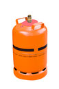 Gas cylinder on isolated white background Royalty Free Stock Photos