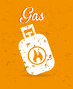 Gas design over orange background vector illustration Royalty Free Stock Photography