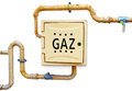 Gas distribution box and pipes Royalty Free Stock Photo