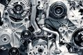 Gas engine closeup background photo car Royalty Free Stock Photo