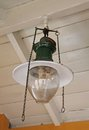 Gas fired ceiling lamp a vintage with glass bowl Royalty Free Stock Photography