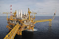 The gas flare is on the oil rig platform in gulf of thailand Royalty Free Stock Photos