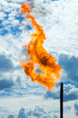 Gas flaring. Stock Photography