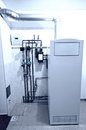 Gas furnace installation Royalty Free Stock Photo