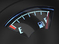 Gas gage with the needle indicating a full tank fuel concept d render of Stock Photos
