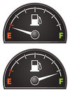 Gas gauge an illustration of an empty and full Royalty Free Stock Image