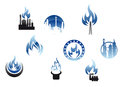 Gas industry symbols and icons Royalty Free Stock Image