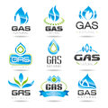 Gas industry symbols natural can be used in areas such as the design of ready made icons Royalty Free Stock Photography