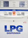 Gas lpg dispenser console by closeup view Royalty Free Stock Image