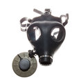 Gas mask and air filter Royalty Free Stock Photo