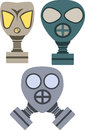 Gas masks vector pack of three Stock Image