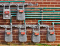 Gas Meters Royalty Free Stock Photo