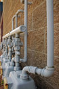 Gas pipe line and meter Stock Image