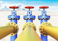 gas pipeline 3d illustration