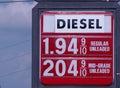 Gas poco costoso Immagini Stock Libere da Diritti